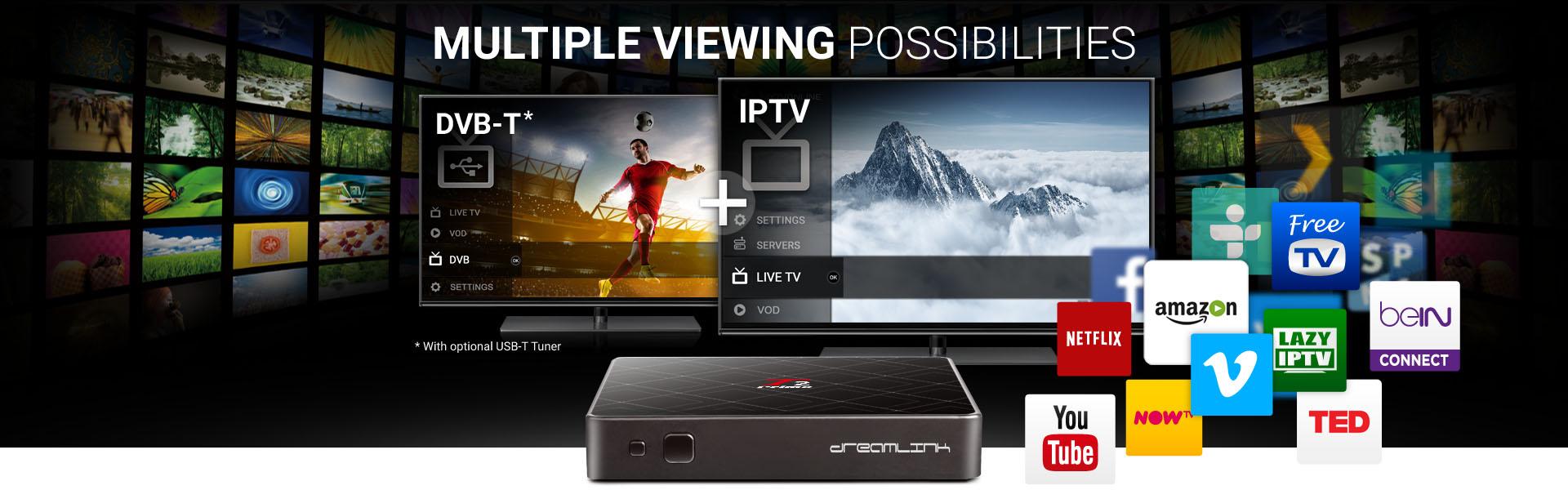 Dreamlink T2 Prime Ultra IPTV Receiver + 12 Months IPTV Service + Free  Shipping